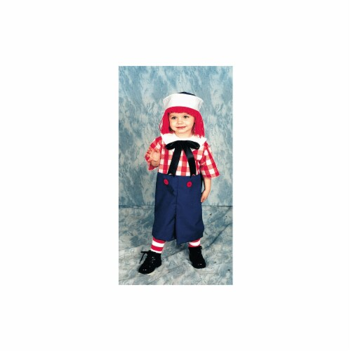 Costumes For All Occasions 12115 Raggedy Andy Child 4 To 6 Perspective: front