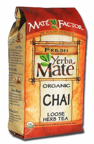 The Mate Factor  Yerba Mate Organic Chai Loose Herb Tea Perspective: front