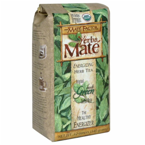 Mate Factor Fresh Green Herbal Tea Perspective: front
