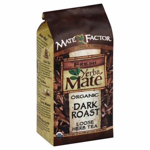 The Mate Factor Fresh Yerba Mate Organic Dark Roast Herb Tea Perspective: front