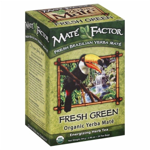 Mate Factor Fresh Green Yerba Mate Perspective: front