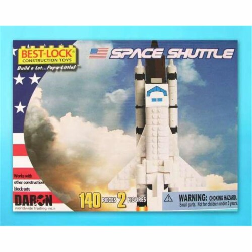 Daron Worldwide Trading  BL5740 Space Shuttle 140 Piece Construction Toy Perspective: front
