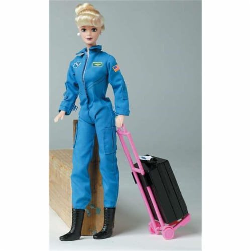 Daron Worldwide Trading  DA500 Astronaut Doll Female In Blue Suit Perspective: front