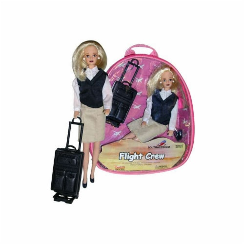 Daron Worldwide Trading  DA950 Southwest Airlines Flight Attendant Doll Perspective: front