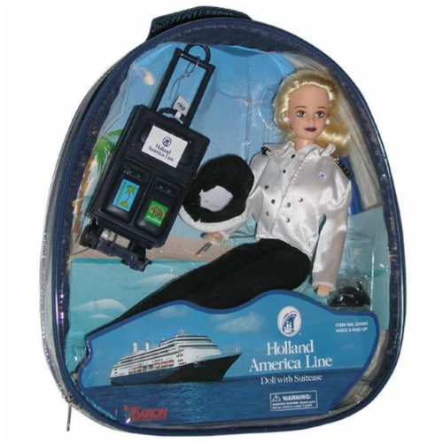 Daron Worldwide Trading  DA980 Holland America Doll - In Back Pack Sku 525814-0 Perspective: front