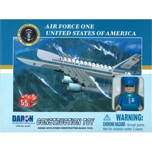 Daron Worldwide Trading  BL222 Air Force One 55 Piece Construction Toy Perspective: front