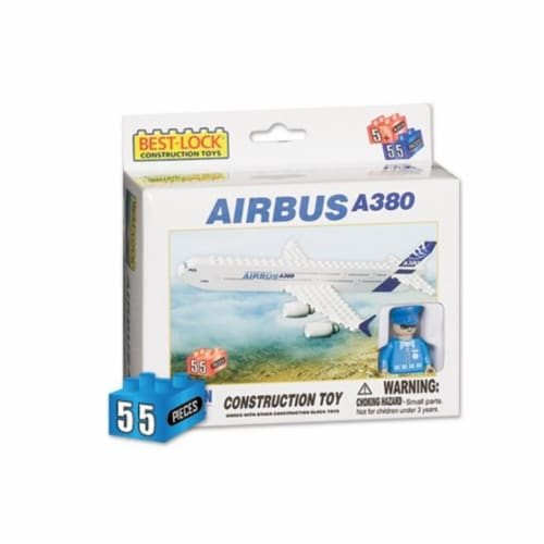Daron Worldwide Trading  BL380 Airbus A380 55 Piece Construction Toy Perspective: front