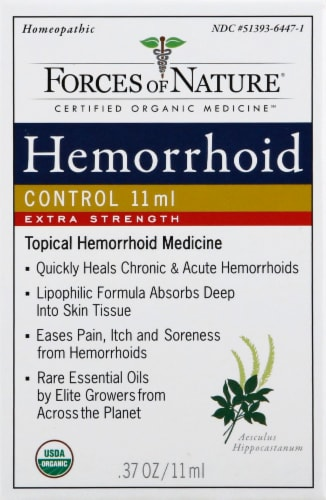 Forces of Nature Extra Strength Hemorrhoid Control Perspective: front