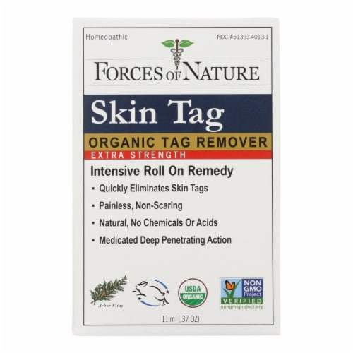 Forces of Nature - Skin Tag Control - Certified Organic - Extra Strength - 11 ml Perspective: front