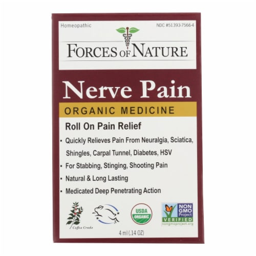Forces Of Nature Nerve Pain Mangmnt Rollerball Activtor Topical Mdicne -1 Each-4 ML-Pack of 3 Perspective: front