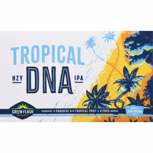 Green Flash Brewing Co. Tropical DNA IPA Beer Perspective: front