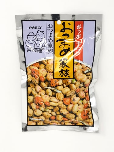 Mishima Poppo Nuts Ostumame Baked Peanuts Snacks Perspective: front