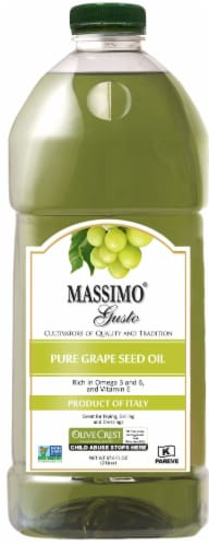 Massimo Gusto Pure Grape Seed Oil Perspective: front