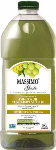 Massimo Gusto Canola Oil Grape Seed Oil Blend Perspective: front