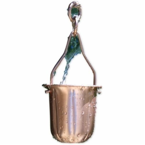 Patina Products R278H Copper Pot Rain Chain - Half Length Perspective: front