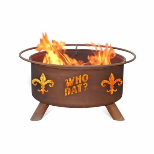 Patina Products F205 Who Dat Fire Pit Perspective: front