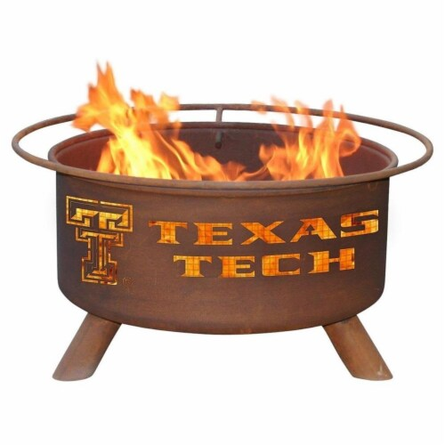 Patina Products F233 30 in. Texas Tech Fire Pit Perspective: front