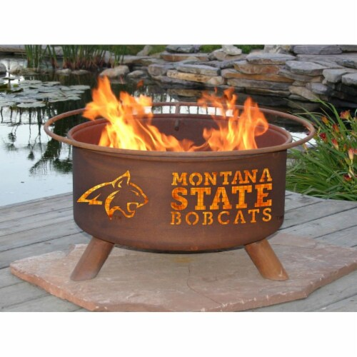 Patina Products F414 Montana State Fire Pit Perspective: front