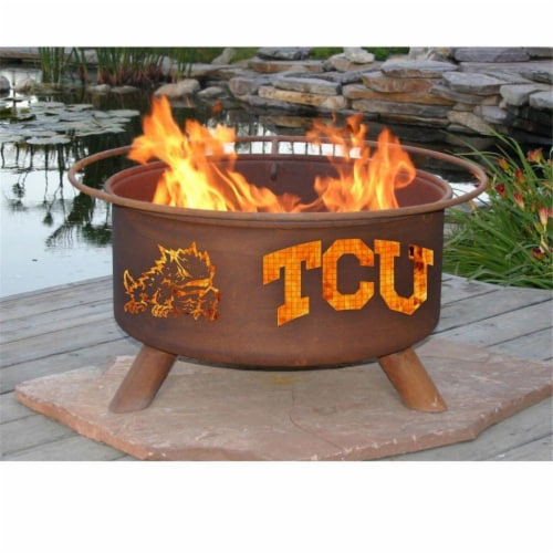 Patina Products F428 Texas Christian University Fire Pit Perspective: front