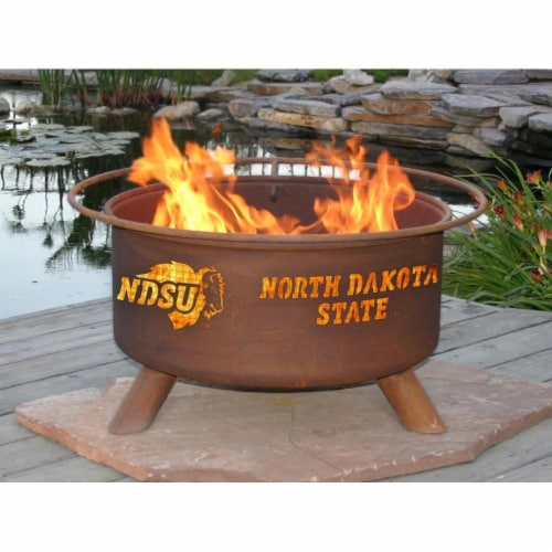 Patina Products F460 North Dakota State Fire Pit Perspective: front