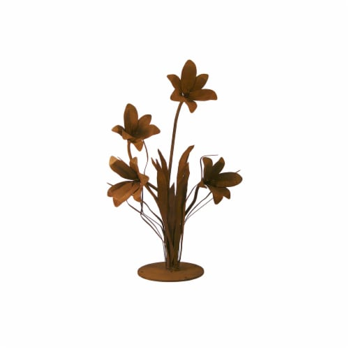 Patina Products S676 Large Lily Garden Sculpture - Emma Perspective: front