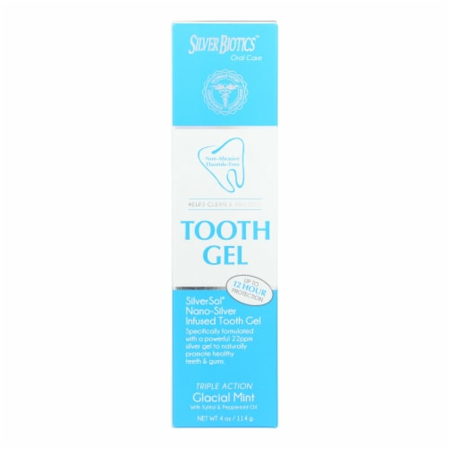 American Biotech Labs - Silversol Tooth Gel - Xylitol - 4 oz Perspective: front