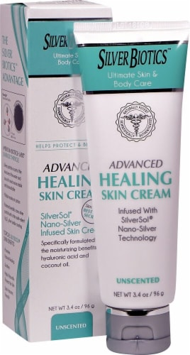 American Biotech Labs Silver Biotics Unscented Advanced Healing Skin Cream Perspective: front