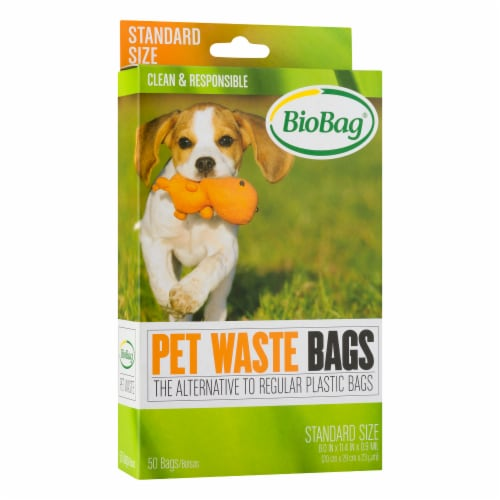 BioBag Standard Size Pet Waste Bags 50 Count Perspective: front