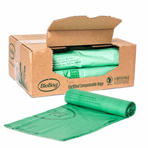 BioBag 55 gallon Compostable Liners / 80-ct. case Perspective: front