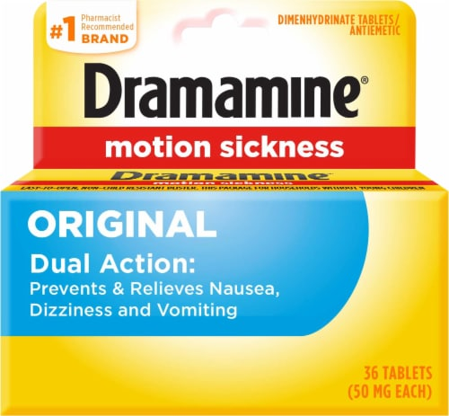 Dramamine® Motion Sickness Relief Tablets 50 mg Perspective: front