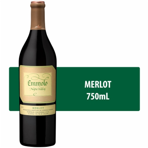 Emmolo Wines Napa Valley Merlot Red Wine Perspective: front