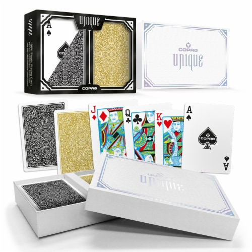 Copag Unique Black/Gold, Poker Size, Regular Index Perspective: front
