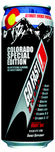 Go Fast Colorado Special Edition Energy Drink Perspective: front