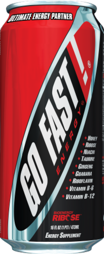 Go Fast Energy Drink Perspective: front