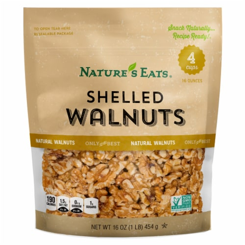 Nature's Eats Shelled Walnuts Perspective: front