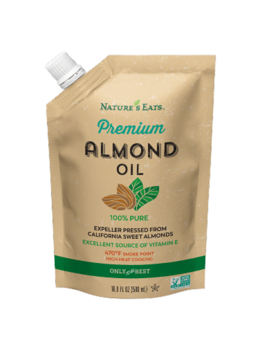Nature's Eats Premium Almond Oil Perspective: front