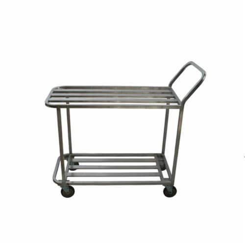 Prairie View WUC2060 Welded T-Bar Aluminum Utility Carts with 2 Tier - 41 x 66 x 20 in. Perspective: front