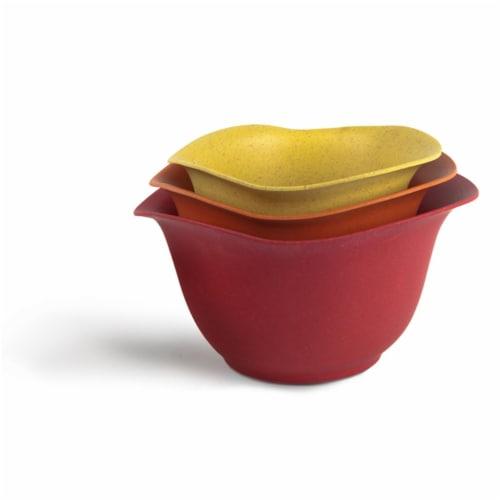 Ecosmart Purlast 2,  3, & 4 qt. Bamboo & Plastic Classic Mixing Bowl Set Perspective: front