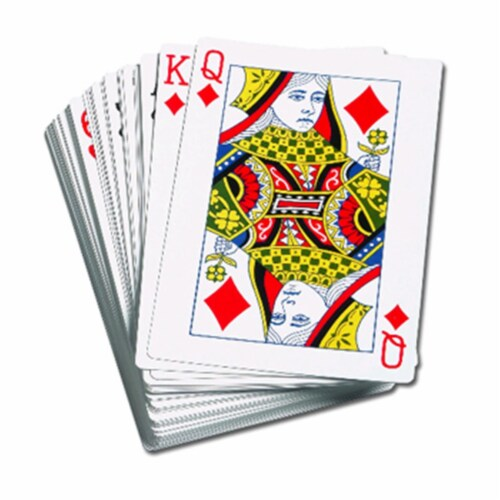 Learning Advantage CTU7658 Giant Playing Cards 4.25 X 7.75In Perspective: front