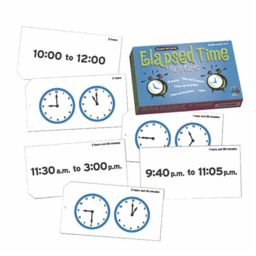 Learning Advantage 1540207 Elapsed Time Flash Cards, 105 Pages Perspective: front