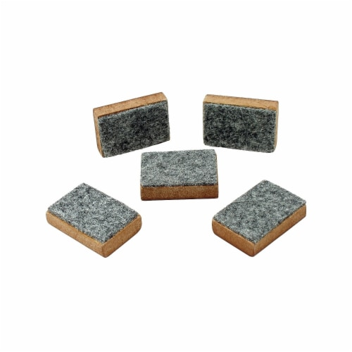 Mini Markerboard Erasers - Set of 5 Perspective: front