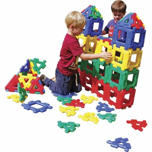 Polydron 1533175 Giant Polydron Classroom Set, 80 Piece Perspective: front