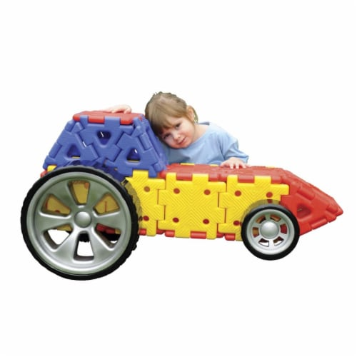 Polydron 1533176 Giant Polydron Vehicles Builders Set, 32 Piece Perspective: front