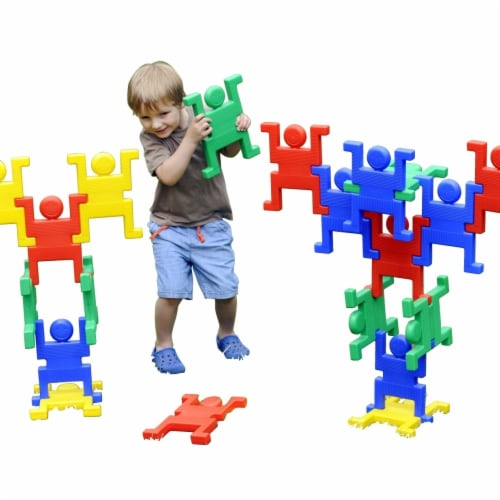 Polydron 1533161 Giant Acrobats, 20 Piece Perspective: front