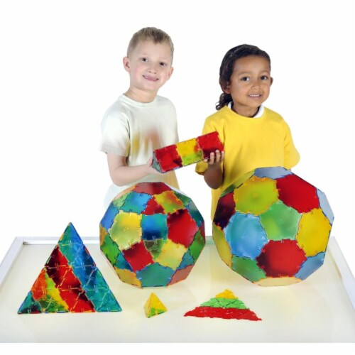 Polydron 1559049 Translucent Polydron Class Set, Set of 184 Perspective: front