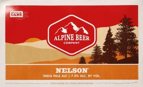 Alpine Beer Company Nelson IPA Beer Perspective: front