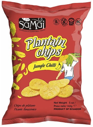 Samai  Plantain Chips   Jungle Chili Perspective: front