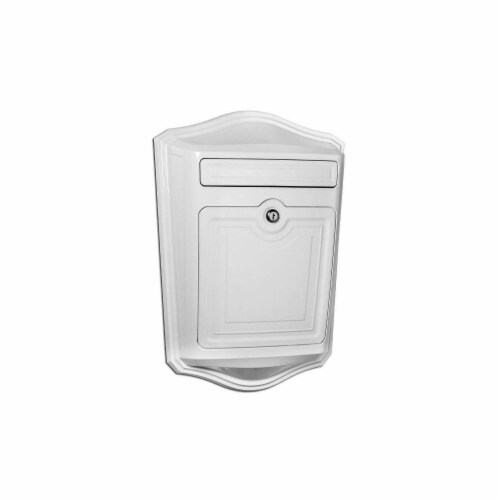 Architectural Mailboxes 2540W Maison Locking Wall Mount Mailbox White Perspective: front