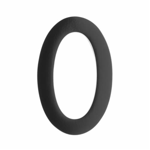 Architectural Mailboxes 3582B-0 Floating House Number 0, Black - 4 in. Perspective: front