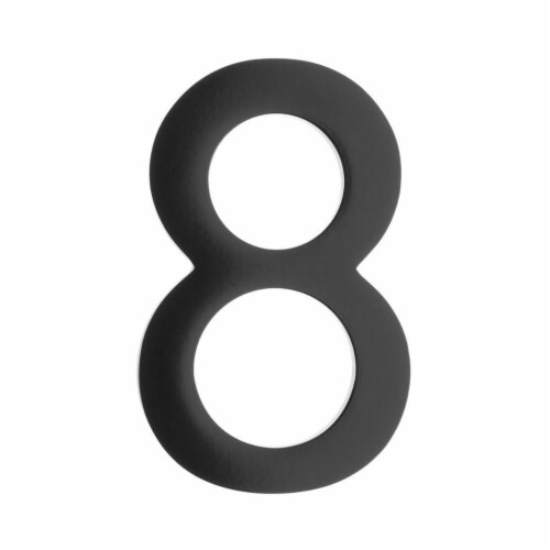 Architectural Mailboxes 3582B-8 Floating House Number 8, Black - 4 in. Perspective: front